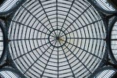La bóveda del Galleria Umberto Imagen de archivo libre de regalías