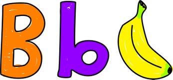 La B è per la banana illustrazione di stock