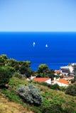 La bahía de Collioure, Francia meridional Imagen de archivo