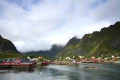 La bahía de A en Noruega fotografía de archivo libre de regalías