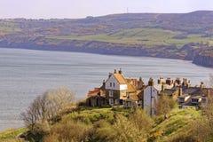 La bahía de Hooddel petirrojo en North Yorkshire, Reino Unido imagen de archivo libre de regalías