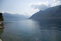 La bahía de Kotor (Montenegro) Imágenes de archivo libres de regalías