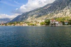 La bahía de Kotor. Montenegro. Imagen de archivo libre de regalías