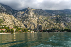 La bahía de Kotor (Montenegro) Imagen de archivo libre de regalías