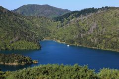 La bahía de Onahau, bahía en el Marlborough suena Imagen de archivo