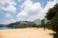 La bahía de la repulsión de la playa Foto de archivo libre de regalías