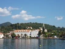 La bahía de Sipan en Croacia Foto de archivo libre de regalías