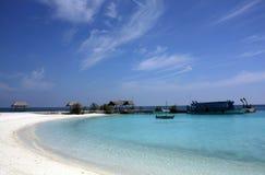 La bahía de una isla, Maldives Imagenes de archivo