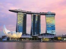 La bahía del puerto deportivo de Singapur enarena el hotel Foto de archivo