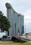 La bahía del puerto deportivo enarena Singapur Imágenes de archivo libres de regalías