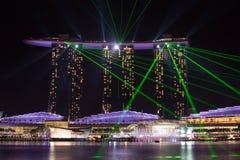 La bahía del puerto deportivo enarena Singapur Foto de archivo libre de regalías