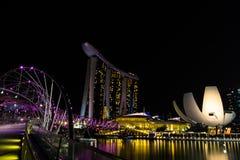 La bahía del puerto deportivo enarena Singapur fotografía de archivo libre de regalías