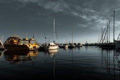 La bahía francesa de Cannes imagen de archivo