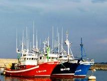 La bahía Fuenterrabia Hondarribia Pescadores vascos imágenes de archivo libres de regalías
