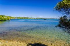 La bahía hermosa de la ciudad de 1770, Australia Fotos de archivo libres de regalías