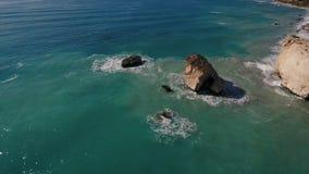 La bahía hermosa en la isla almacen de video