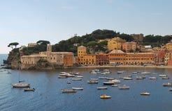 La bahía, la bahía del silencio en Sestri Levante, Italia Fotos de archivo libres de regalías