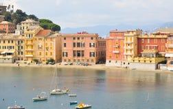 La bahía, la bahía del silencio en Sestri Levante, Italia Imagen de archivo libre de regalías