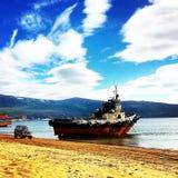 la bahía Nagaevo imagen de archivo libre de regalías