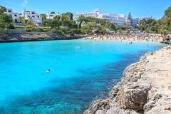 La bahía de Cala Gran en Mallorca Foto de archivo