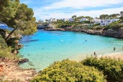 La bahía de Cala Gran en Mallorca Imagen de archivo libre de regalías