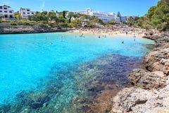 La bahía de Cala Gran en Mallorca Imagen de archivo