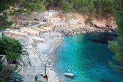 La bahía de Sa Calobra, Majorca Imágenes de archivo libres de regalías