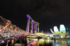 La bahía del puerto deportivo de Singapur enarena 01 Imagen de archivo libre de regalías