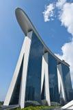 La bahía del puerto deportivo enarena Singapur Fotos de archivo