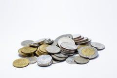La baht Tailandia conia il mucchio di soldi Immagine Stock