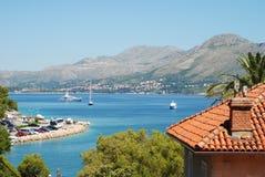 La baia a Cavtat, Croatia Fotografia Stock Libera da Diritti