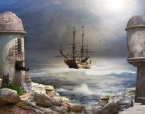 La baia del pirata Fotografia Stock Libera da Diritti