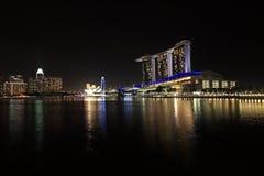 LA BAIA DEL PORTICCIOLO DI SINGAPORE INSABBIA L'HOTEL Immagini Stock