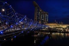 La baia del porticciolo insabbia Singapore Immagine Stock