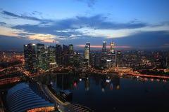 La baia del porticciolo insabbia Singapore Immagine Stock Libera da Diritti