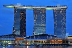 La baia del porticciolo smeriglia l'hotel Immagine Stock Libera da Diritti