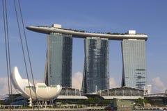 La baia del porticciolo smeriglia l'hotel a Singapore Immagine Stock Libera da Diritti