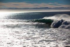 La baia dell'onda lucida il blocco per grafici completo di struttura Fotografia Stock Libera da Diritti