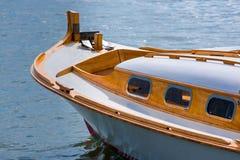 La baia di Arcachon, Francia, peschereccio tradizionale ha chiamato Pinasse Fotografia Stock