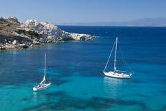 La baia di Cala Spinosa in Sardegna fotografia stock