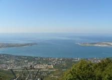 La baia di Gelenzhik sul Mar Nero immagine stock libera da diritti