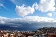 La baia di Napoli Fotografia Stock Libera da Diritti
