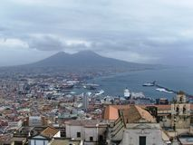 La baia di Napoli Fotografia Stock
