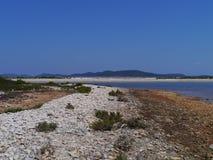 La baia di Pantera vicino a Veli Rat in Croazia immagine stock