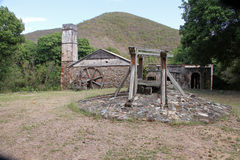 La baia Sugar Mill - St John, USVI della scogliera fotografia stock