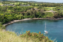 La baie à Kapalua, Hawaï Image libre de droits