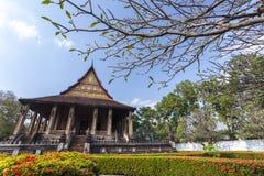 La baie d'aubépine Phra Kaew est un ancien temple à Vientiane, Laos images stock