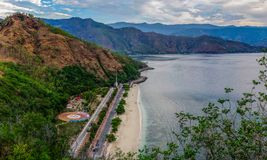 La baie de Dili, Timor-Leste Photos stock