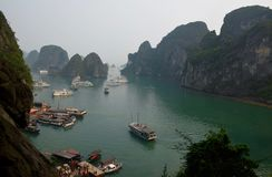 La baie de Halong, Hanoï, Vietnam images stock