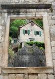 La baie de Kotor dans Montenegro image libre de droits